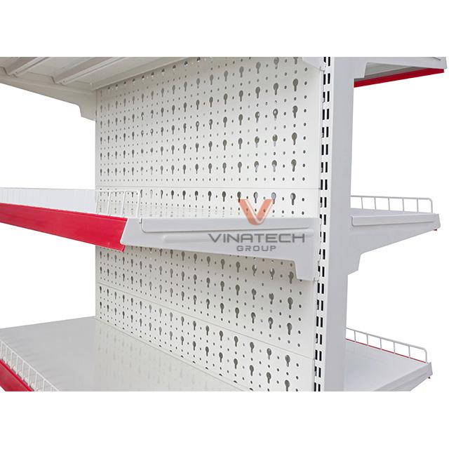 Kệ siêu thị đôi tôn đục lỗ 90x150cm-3