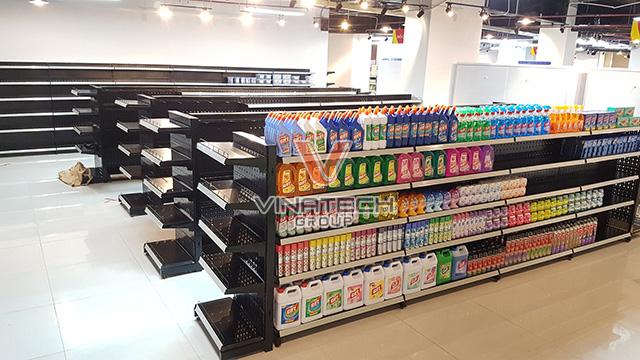 Kệ đôi siêu thị tôn lỗ 90x150cm