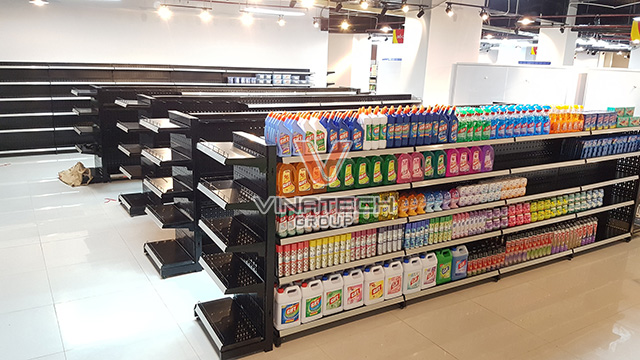 Kệ siêu thị tôn lỗ đôi 90x180cm