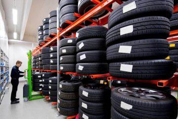 giá kệ để lốp ô tô