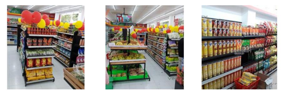 cách trưng bày hàng hóa trong siêu thị vinmart