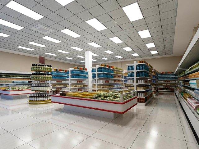thiết kế siêu thị 60m2