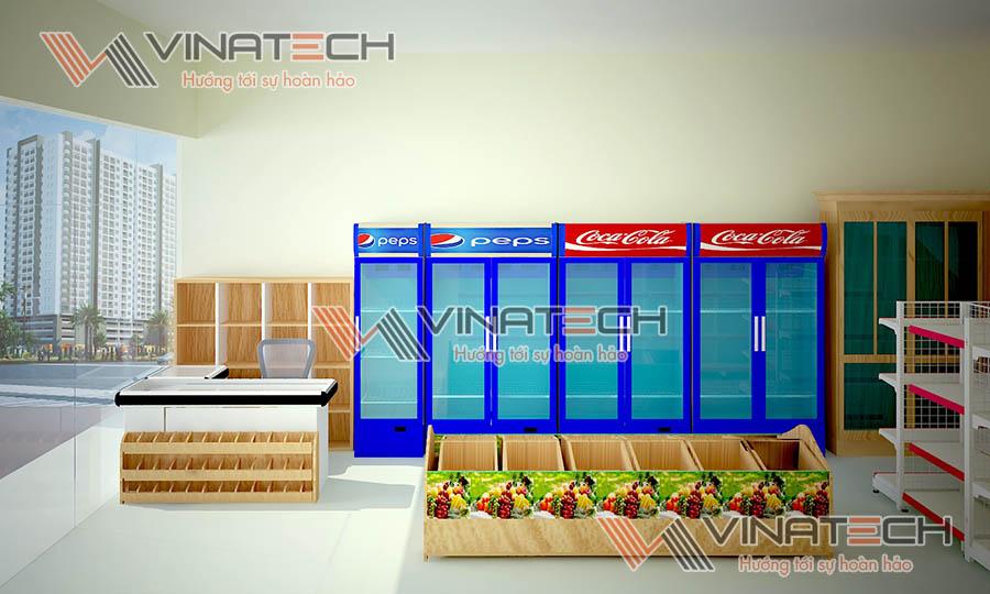 thiết kế siêu thị 3D Vinatech