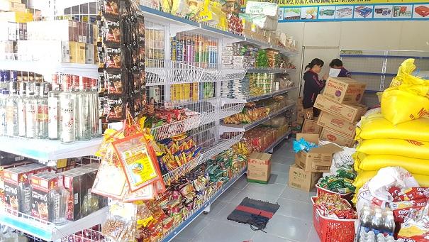 kệ siêu thị mini bình định