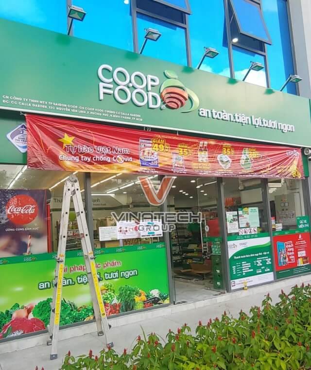 mặt bằng mở siêu thị