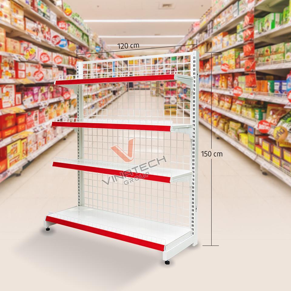 ảnh kệ siêu thị đơn lưới