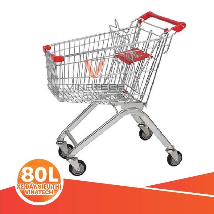 xe đẩy siêu thị 80L
