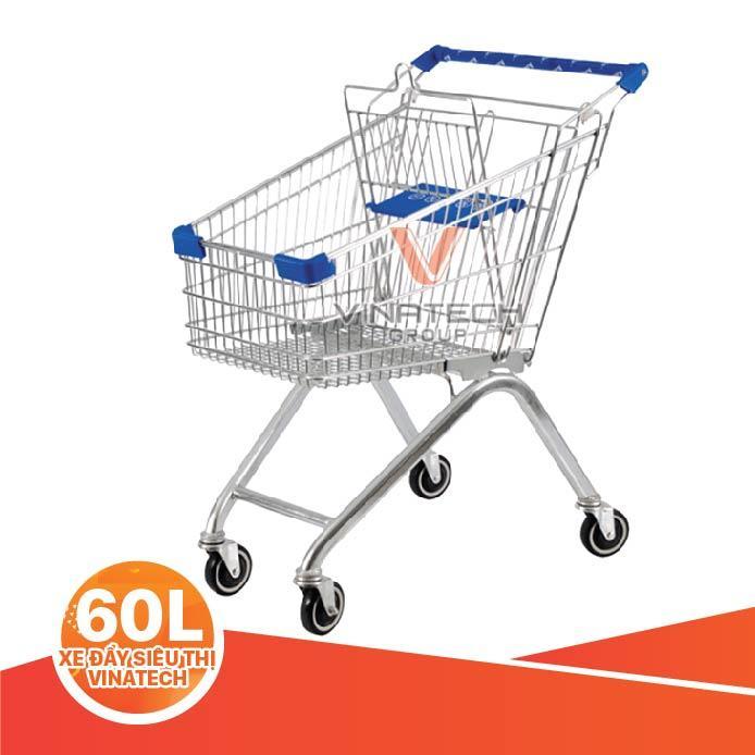 xe đẩy siêu thị 60L