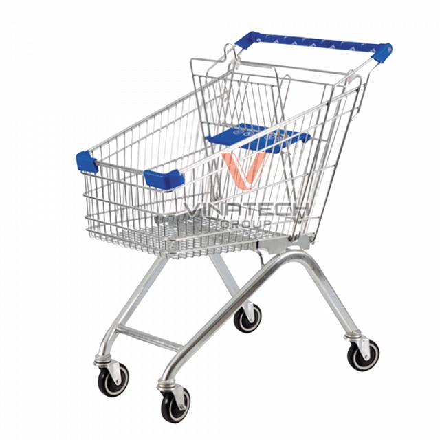 Xe đẩy siêu thị innox dung tích 80l từ Vinatech