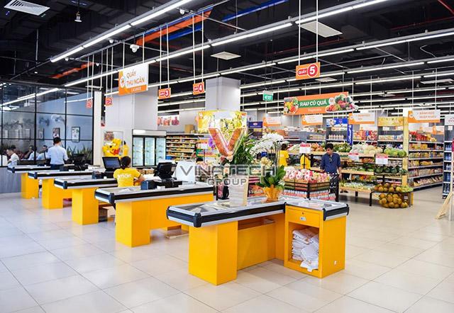 Bàn thu ngân siêu thị vinatech sản xuất
