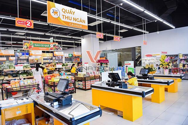 Quầy thu ngân siêu thị vinatech