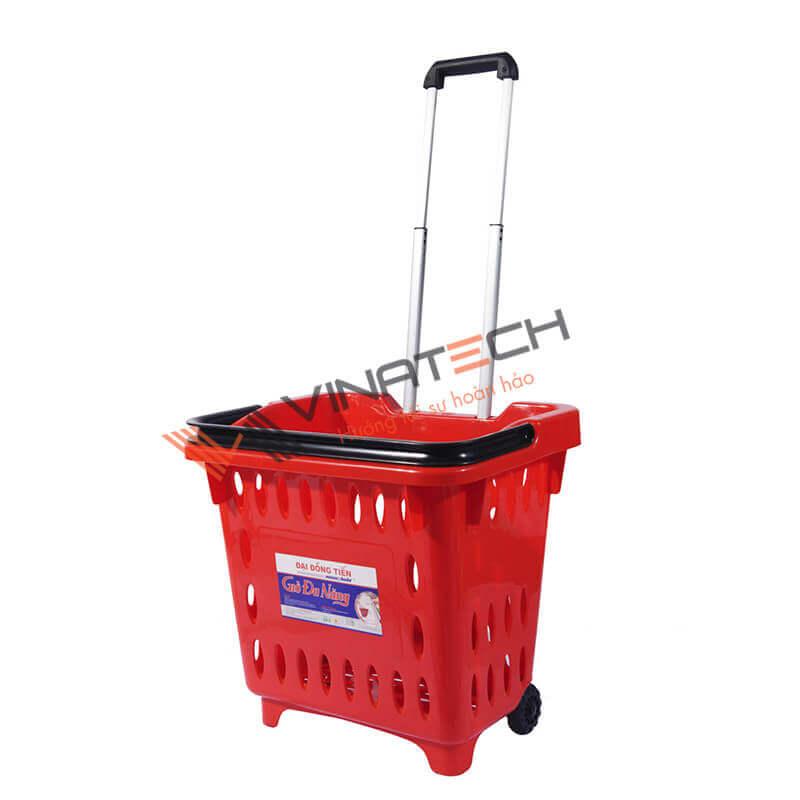 xe đẩy siêu thị nhựa