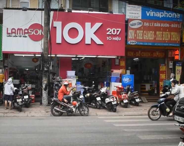 cửa hàng đồng giá 10k