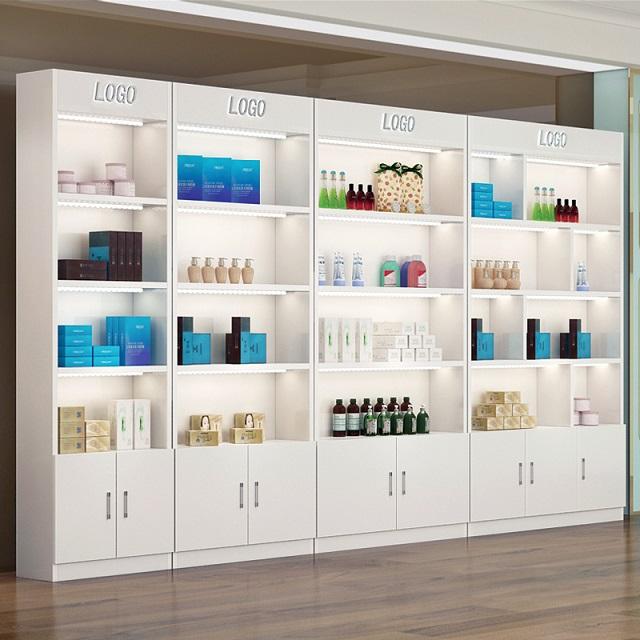 tủ kệ trưng bày mỹ phẩm