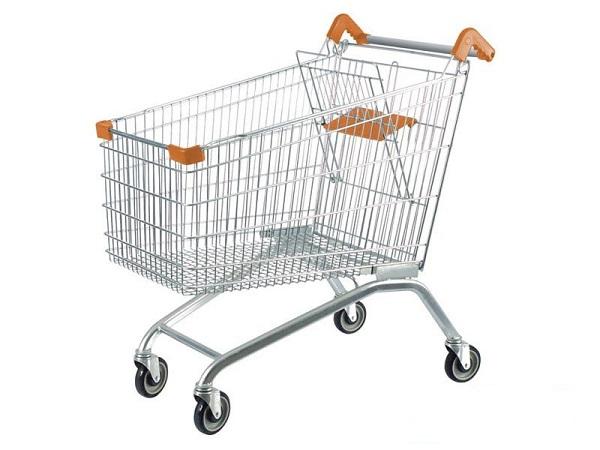 xe kéo hàng siêu thị