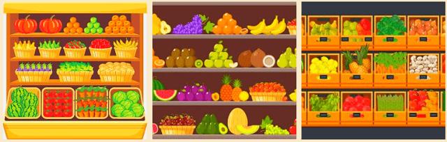cách trưng bày trái cây bán