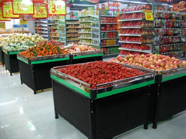 kệ trưng bày hoa quả