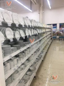 kệ để bát đĩa siêu thị