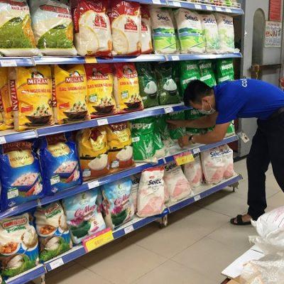 kệ trưng bày gạo